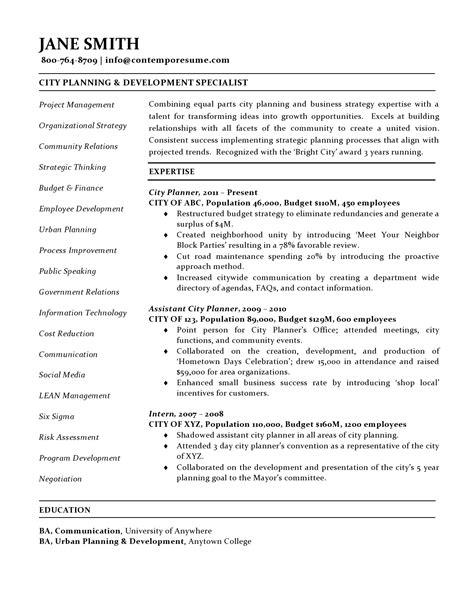 Strategic Planning Resume