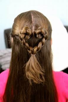 twist braided heart s day hairstyles cute