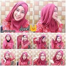 Tutorial Wisuda Simple Segi Empat Jilbab Gucci