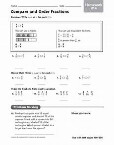 comparing and ordering decimals worksheets grade 4 7430 compare and order fractions homework 19 4 worksheet for 4th 5th grade lesson planet