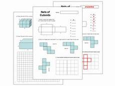 nets of cuboids worksheet teaching resources