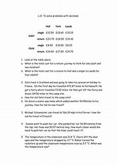 word problems with rounding decimals worksheets 7585 decimal word problems by hanben123 teaching resources tes