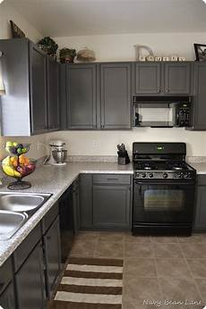 navy bean gray kitchen cabinets before after