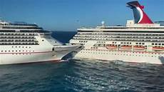 one carnival cruise ship hits another injuring 6 the