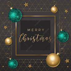merry christmas card with shiny balls black background with geometric pattern christmas