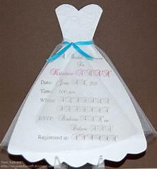 Wedding Dress Invitations myneed2craft by deavers bridal shower invitations