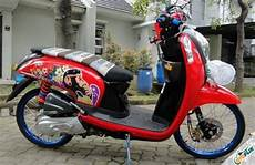 Modifikasi Scoopy 2019 by 2019 Modifikasi Motor Scoopy Karbu Fi Babylook Thailook