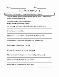englishlinx com commas worksheets 6th grade worksheets