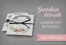 diy tutorial free printable ceremony booklet wedding