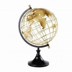 Black And Gold Metal Globe Elvis Maisons Du Monde