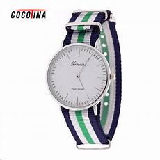 Colorful Canvas Band by Cocotina Chronograph Colorful Fashion Stripe