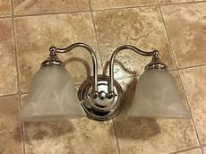bathroom vanity light fixture silver 2 bulb bath room over sink lighting ebay
