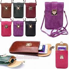 Lucky Bags Mobile Phone Accessories by New Universal Leather Cell Phone Pocket Purse Shoulder Bag