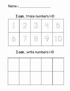 i can trace and write numbers 1 10 by mrs carter s creative corner