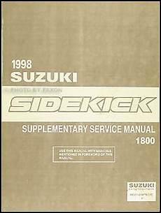 automotive repair manual 1989 suzuki sidekick free book repair manuals 1998 suzuki sidekick sport 1800 repair shop manual supplement original