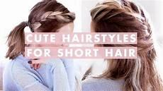 3 easy hairstyles for short medium length hair youtube