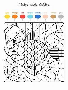 Malvorlagen Malen Nach Zahlen Ausdrucken Ausmalbild Malen Nach Zahlen Fische Ausmalen Kostenlos