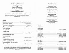wedding program template 2