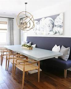 Dining Room Ideas Try A Banquette In Place Of Chairs For