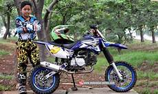 Supra Fit Modif Trail by Foto Modifikasi Motor Cross Supra Fit Impremedia Net