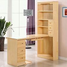 Wooden Bedroom Desk by Solid Wood Computer Desk With Bookcase Cabinet Corner