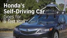 honda self driving car 2020 honda s self driving car goes for a test run