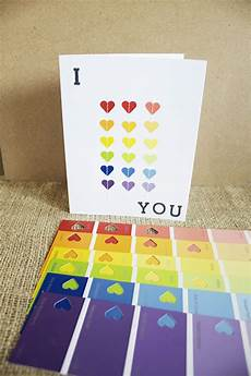 paint chip card ideas paint chip hearts card3 paint chip cards homemade cards paint cards
