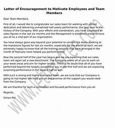 sle email to encourage staff to attend training sle letter of encouragement to motivate employees and team members letter of encouragement