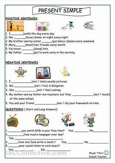 simple present tense worksheets english worksheets for