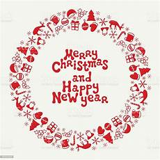 merry christmas and happy new year lettering greeting card 2017 stock illustration download