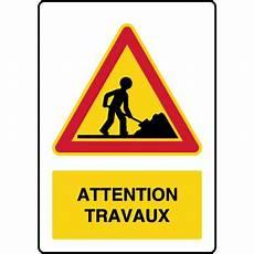 panneau travaux en cours panneau de danger temporaire vertical attention travaux virages