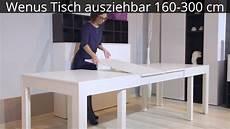 wenus tisch ausziehbar 160 300 cm