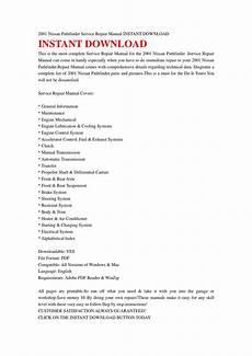 car repair manuals online pdf 1992 nissan pathfinder instrument cluster 2001 nissan pathfinder service repair manual instant download by ksjfhjse issuu