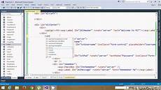 asp net login form using div and css youtube