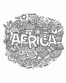africa abstract symbols africa coloring pages