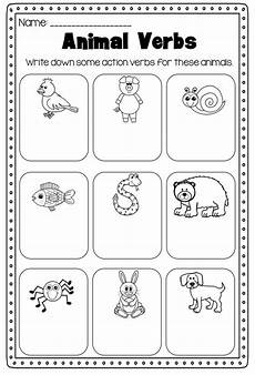 verbs printable worksheet pack kindergarten first second grade 1st grade worksheets english