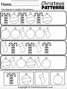 cut and paste patterns worksheets for kindergarten 309 free pattern worksheets cut and paste free4classrooms