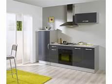 Element De Cuisine Conforama Bloc Cuisine L 240 Cm Rumba Coloris Gris Silver Vente De