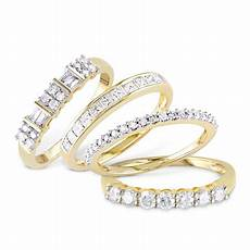 miabella yellow gold wedding bands and stacking rings collection walmart com