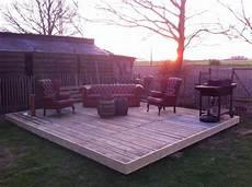 terrasse aus europaletten taras