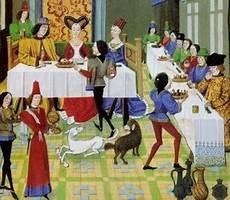 banchetti medievali differenza tra alto e basso medioevo scuolissima