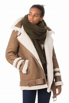 veste femme intuition bobby camel cuir city