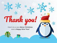 merry christmas thank you card template thank you christmas card template
