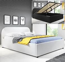 Lit Coffre Design Lexy Blanc 180x200cm