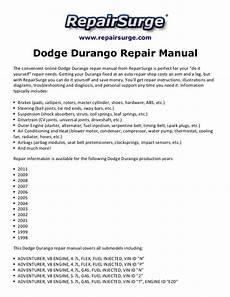online car repair manuals free 2008 dodge durango regenerative braking dodge durango repair manual 1998 2011
