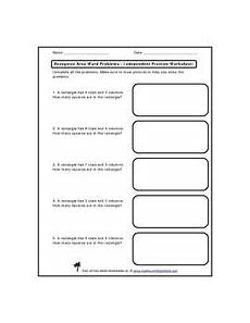 area word problems worksheets with answers 11173 recognize area word problems independent practice
