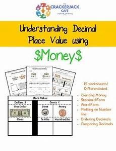 money worksheets decimals 2112 place value decimals money by crackerjack cafe tpt