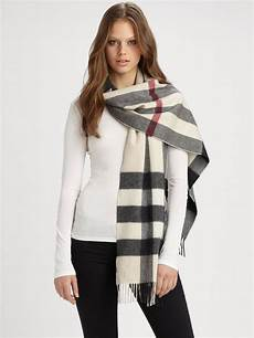 Burberry Half Mega Check Scarf In Brown Lyst