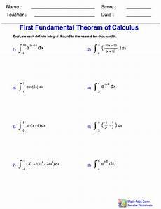 calculus worksheets definite integration for calculus worksheets
