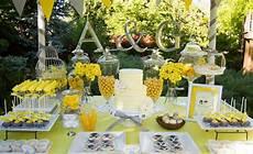 kara s party ideas yellow grey gray garden wedding dessert